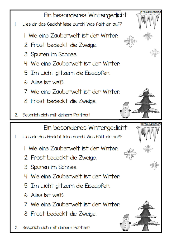 der winter gedicht
