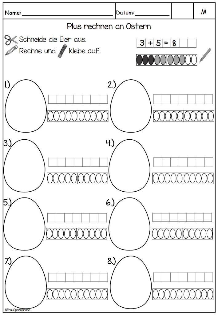 mathe an ostern klasse 1 � frau spa223kanone